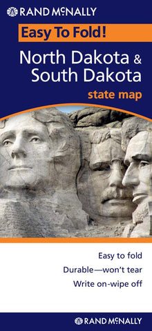 Buy map North and South Dakota, Easy to Fold by Rand McNally