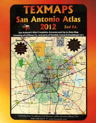 Buy map San Antoniom, Texas Atlas by Texmaps