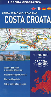 Buy map Croatian Coast Road Map by Libreria Geografica