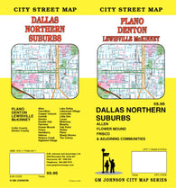 Buy map Plano, Denton, Lewisville and McKinney, Texas by GM Johnson