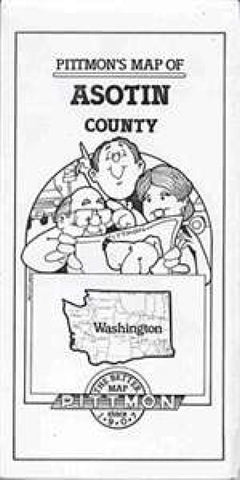 Buy map Asotin County, Washington by Pittmon Map Company
