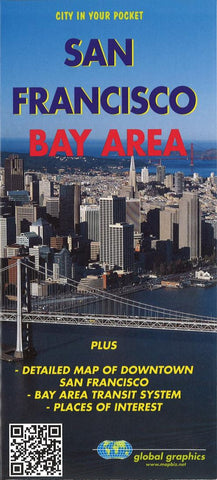 Buy map San Francisco Bay Area, California by Global Graphics