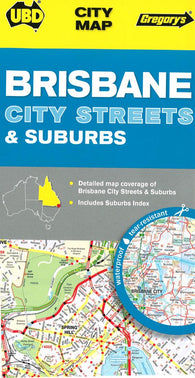 Buy map Brisbane, Australia, City Streets and Suburbs by Universal Publishers Pty Ltd