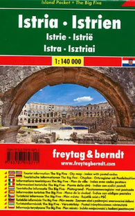 Buy map Istria, Island Pocket Map by Freytag-Berndt und Artaria
