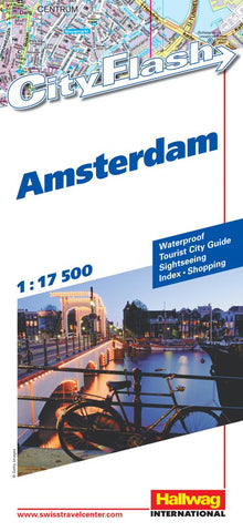 Buy map Amsterdam, Netherlands City Flash Map by Hallwag