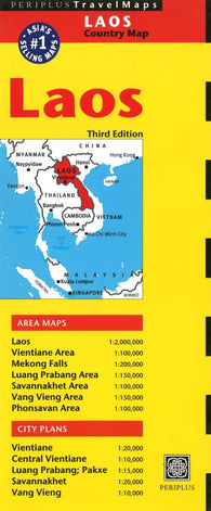 Buy map Laos by Periplus Editions