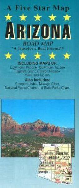 Buy map Arizona by Five Star Maps, Inc.