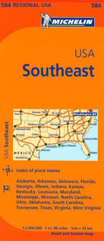 Buy map United States, Southeastern (584) by Michelin Maps and Guides
