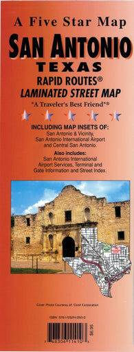 Buy map San Antonio, Texas Rapid Routes by Five Star Maps, Inc.