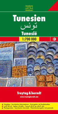 Buy map Tunisia by Freytag-Berndt und Artaria