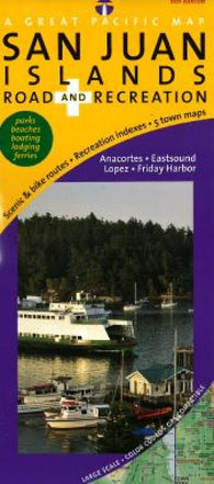 Buy map San Juan Islands, Road and Recreation by Great Pacific Recreation & Travel Maps