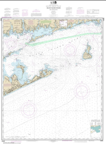 Buy map Block Island Sound and Approaches (13205-40) by NOAA