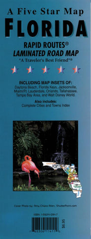 Buy map Florida Rapid Routes by Five Star Maps, Inc.