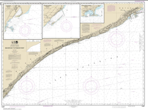 Buy map Beaver Bay to Pigeon Point; Silver Bay Harbor; Taconite Harbor; Grand Marais Harbor (14967-24) by NOAA