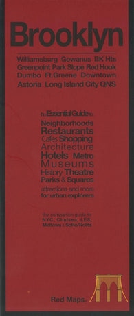 Buy map Brooklyn, New York with Long Island City by Red Maps