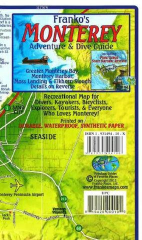 Buy map California Map, Monterey Bay Guide and Dive, folded, 2011 by Frankos Maps Ltd.