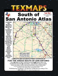 Buy map San Antonio, South, Texas Atlas by Texmaps