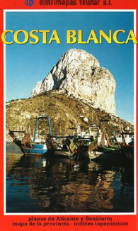 Buy map Costa Blanca, Spain by Distrimapas Telstar, S.L.