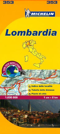 Buy map Lombardia, Italy (353) by Michelin Maps and Guides