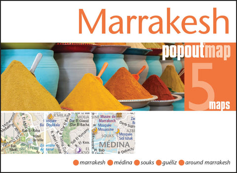 Buy map Marrakesh, Morocco, PopOut Map by PopOut Products