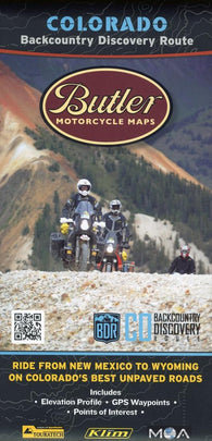 Buy map Colorado Backcountry Discovery Route by Butler Motorcycle Maps