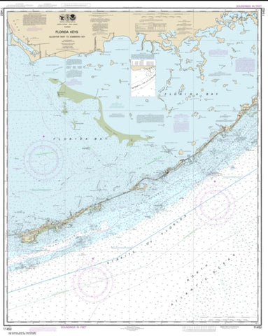 Buy map Intracoastal Waterway Alligator Reef to Sombrero Key (11452-23) by NOAA