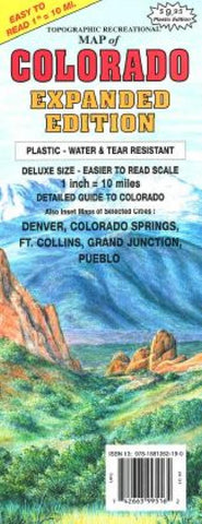 Buy map Colorado, Expanded by GTR Mapping
