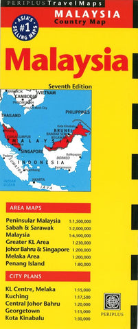 Buy map Malaysia, Peninsular by Periplus Editions