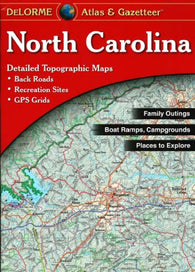Buy map North Carolina, Atlas and Gazetteer by DeLorme