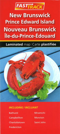 Buy map Fast Track New Brunswick and Prince Edward Island laminated map by Canadian Cartographics Corporation