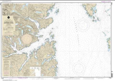 Buy map Clarence Strait and Moira Sound (17432-7) by NOAA