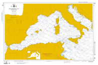 Buy map Mediterranean Sea - Western Part (Omega) (NGA-301-1) by National Geospatial-Intelligence Agency