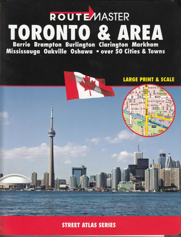Buy map Toronto and Area, Ontario Atlas by Route Master