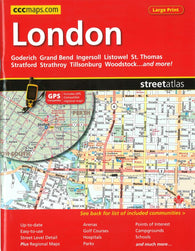 Buy map London, ON Street Atlas (Large Print) by Canadian Cartographics Corporation