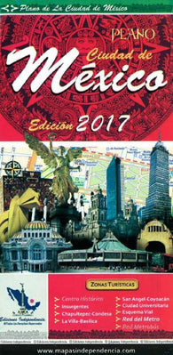 Buy map Mexico City, Mexico, 2017 Edition City Map by Ediciones Independencia
