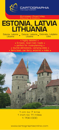 Buy map Estonia, Latvia and Lithuania by Cartographia