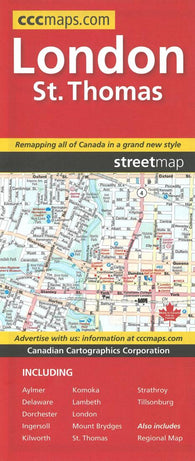 Buy map London and St. Thomas, Ontario by Canadian Cartographics Corporation