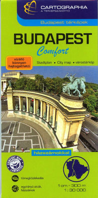 Buy map Budapest, Hungary, Comfort Map by Cartographia