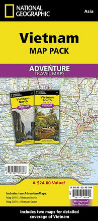 Buy map Vietnam Map Pack Bundle by National Geographic Maps