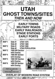 Buy map Utah, Ghost Towns and Sites, 6-Map Set, Then and Now by Northwest Distributors