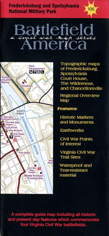 Buy map Fredericksburg and Spotsylvania National Military Park #106 by Trailhead Graphics, Inc.