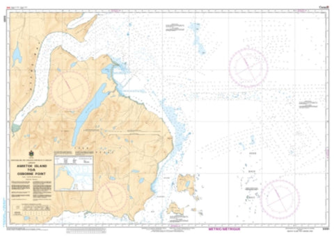 Buy map Amiktok Island to/a Osborne Point by Canadian Hydrographic Service