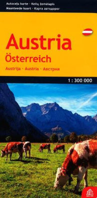 Buy map Austria by Jana Seta