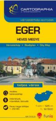 Buy map Eger, Hungary by Cartographia
