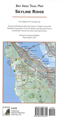 Buy map Bay Area Trail Map: Skyline Ridge by Redwood Hikes Press