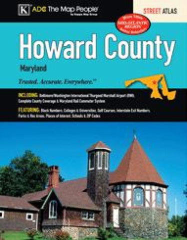 Buy map Howard County, MD, Street Atlas by Kappa Map Group