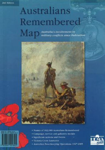 Buy map Australians Remembered Map by Hema Maps
