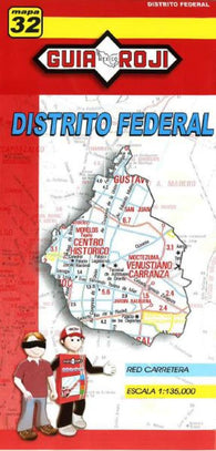 Buy map Distrito Federal, Mexico, State Map by Guia Roji