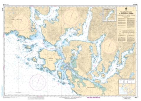Buy map Clayoquot Sound, Tofino Inlet to/a Millar Channel by Canadian Hydrographic Service