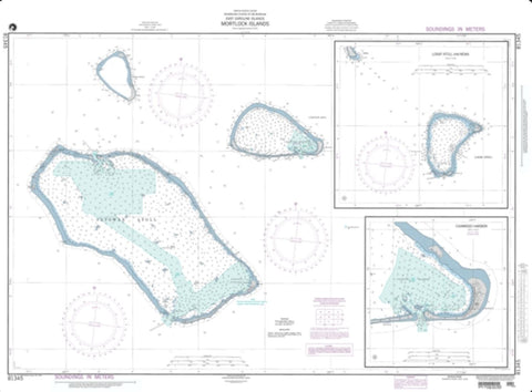 Buy map Mortlock Islands, East Caroline Islands (NGA-81345-3) by National Geospatial-Intelligence Agency